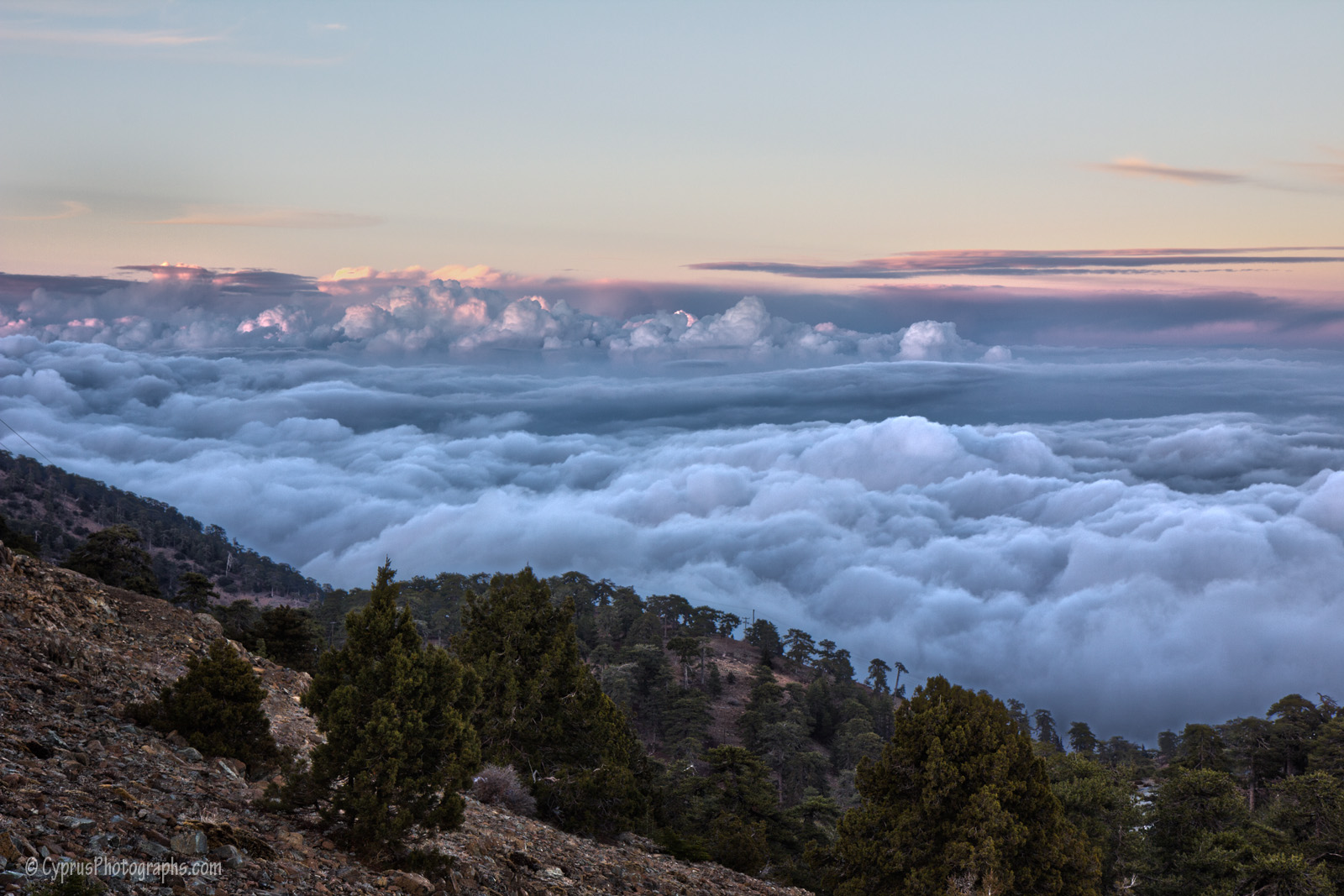 Over the clouds, Troodos
