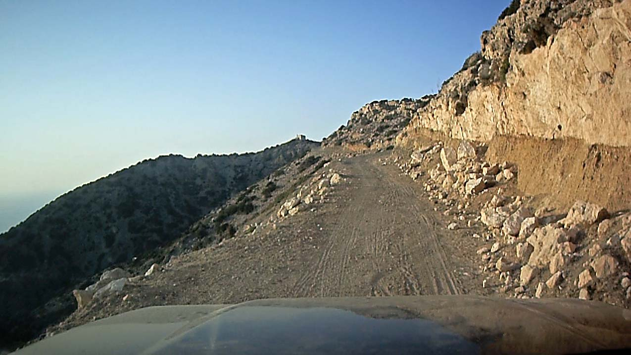 Scary road to the Akamas lighthouse – video