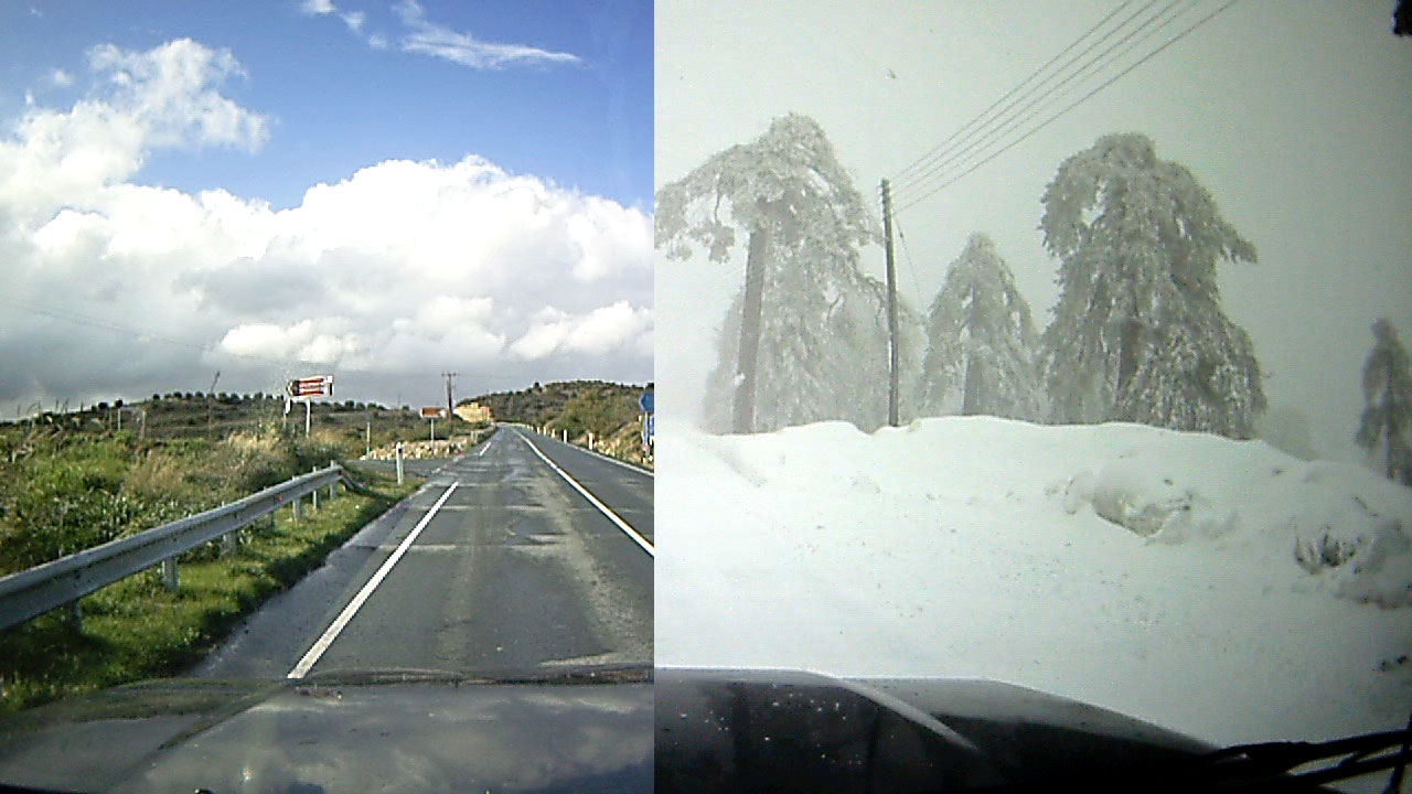 From summer to winter in 3 minutes video